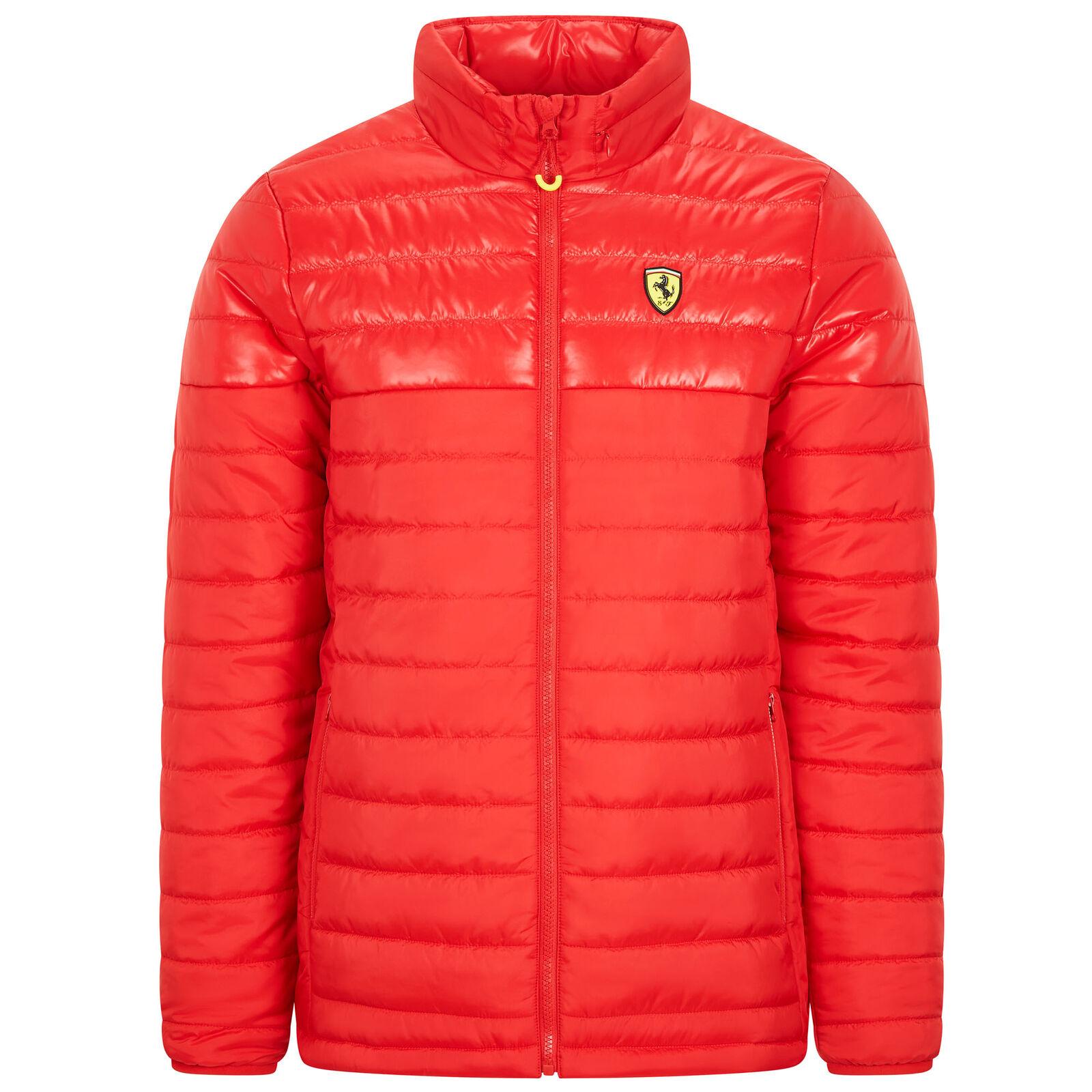 ★送料無料★Scuderia Ferrari Official Red Padded Jacket フェラーリ オフィシャル ダウンジャケット レッド アウター