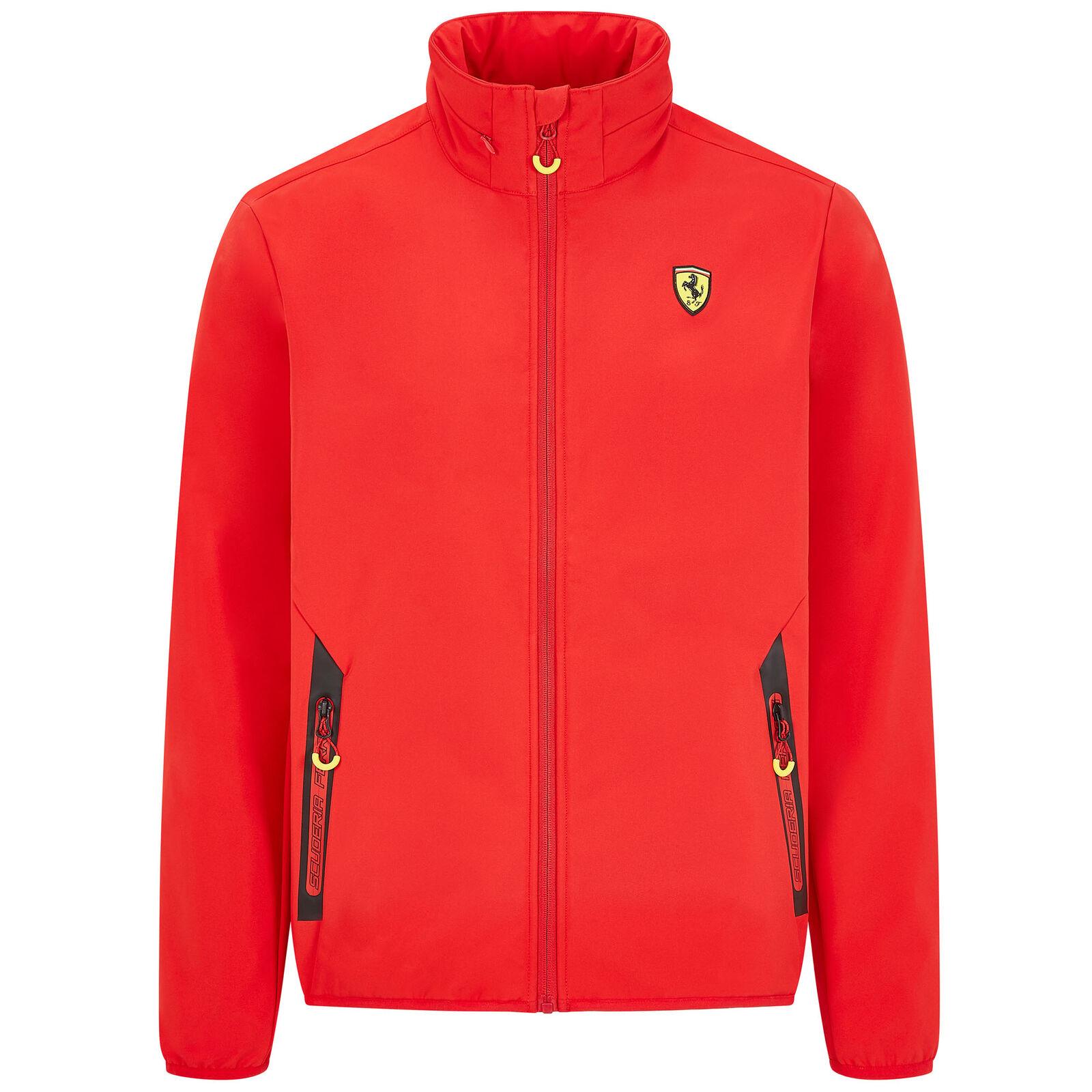 ★送料無料★Scuderia Ferrari Official Red Softshell Jacket フェラーリ オフィシャル ソフトシェル ジャケット レッド アウター