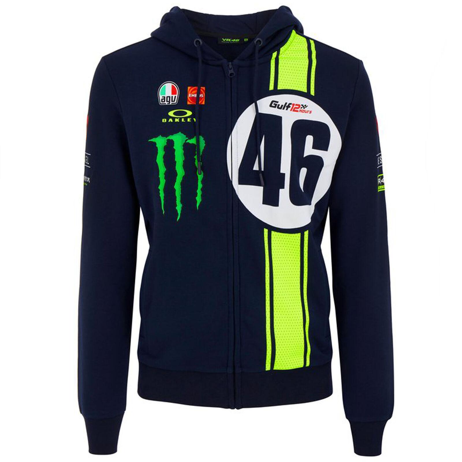 ★送料無料★Valentino Rossi VR46 Official Abu Dhabi GT 12HR Hoody ヴァレンティノ ロッシ アブダビ ジップアップパーカー 長袖 ブラック