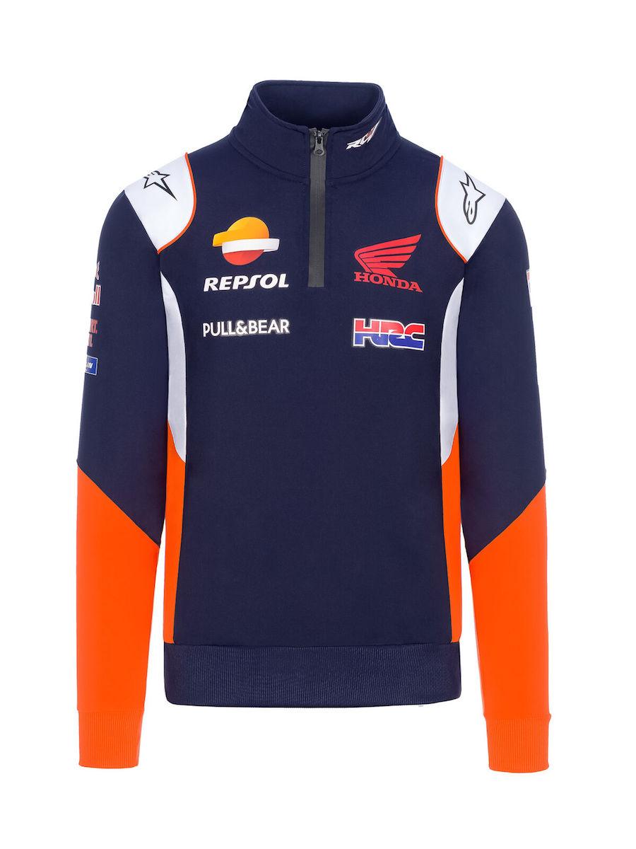 ★送料無料★ Repsol Honda Racing Sweatshirt Blue レプソル スウェットシャツ 長袖