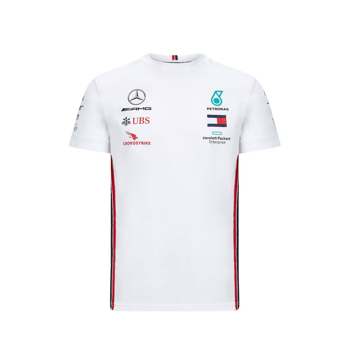 ★送料無料★ Mercedes-AMG F1 Official Team Tee Lewis Hamilton ベンツ オフィシャル ルイス・ハミルトン Tシャツ 半袖 ホワイト