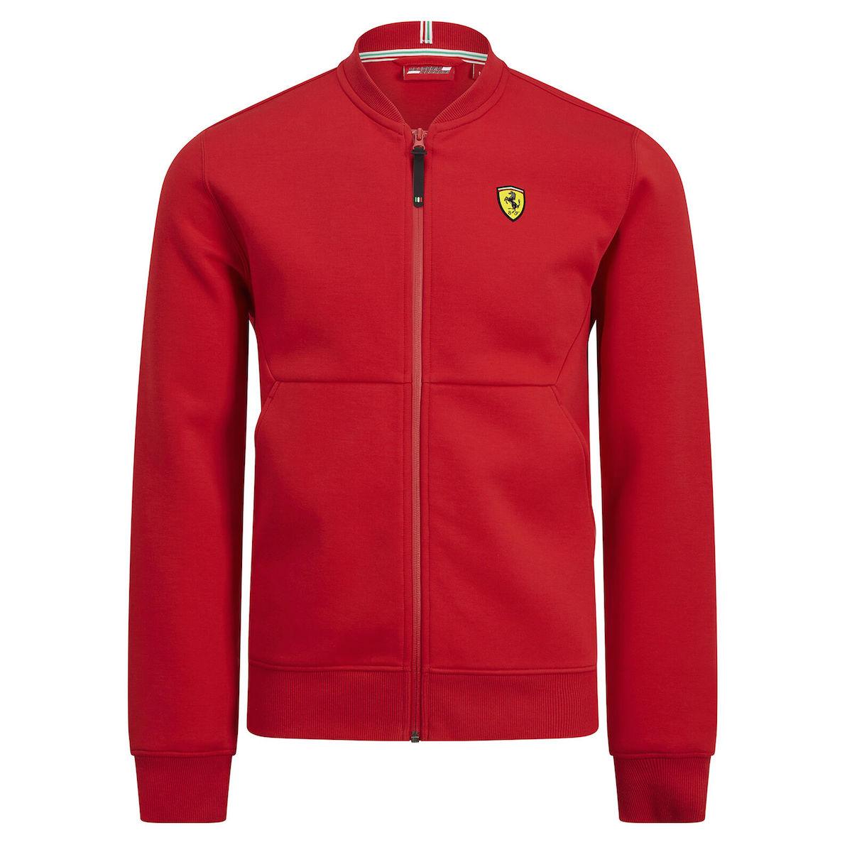 ★送料無料★Scuderia Ferrari Zip up Sweatshirt Jacket フェラーリ オフィシャル ジップアップ ジャケット