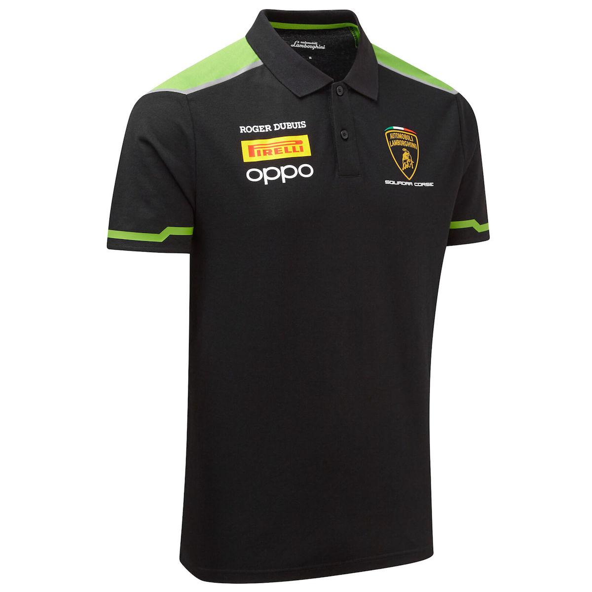 ★送料無料★Lamborghini Squadra Corse Polo Shirt ランボルギーニ オフィシャル ポロシャツ 半袖 ブラック