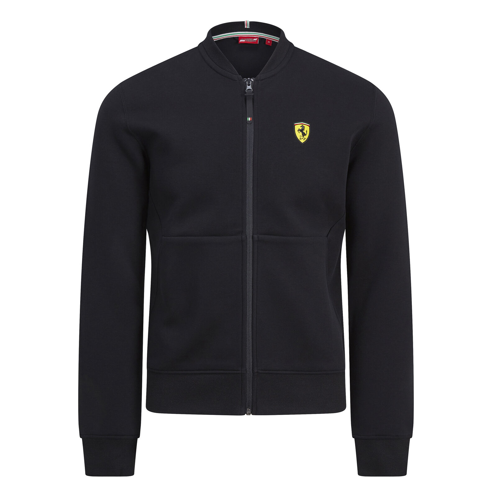 ★送料無料★Scuderia Ferrari Zip up Sweatshirt Jacket フェラーリ オフィシャル ジップアップ ジャケット ブラック