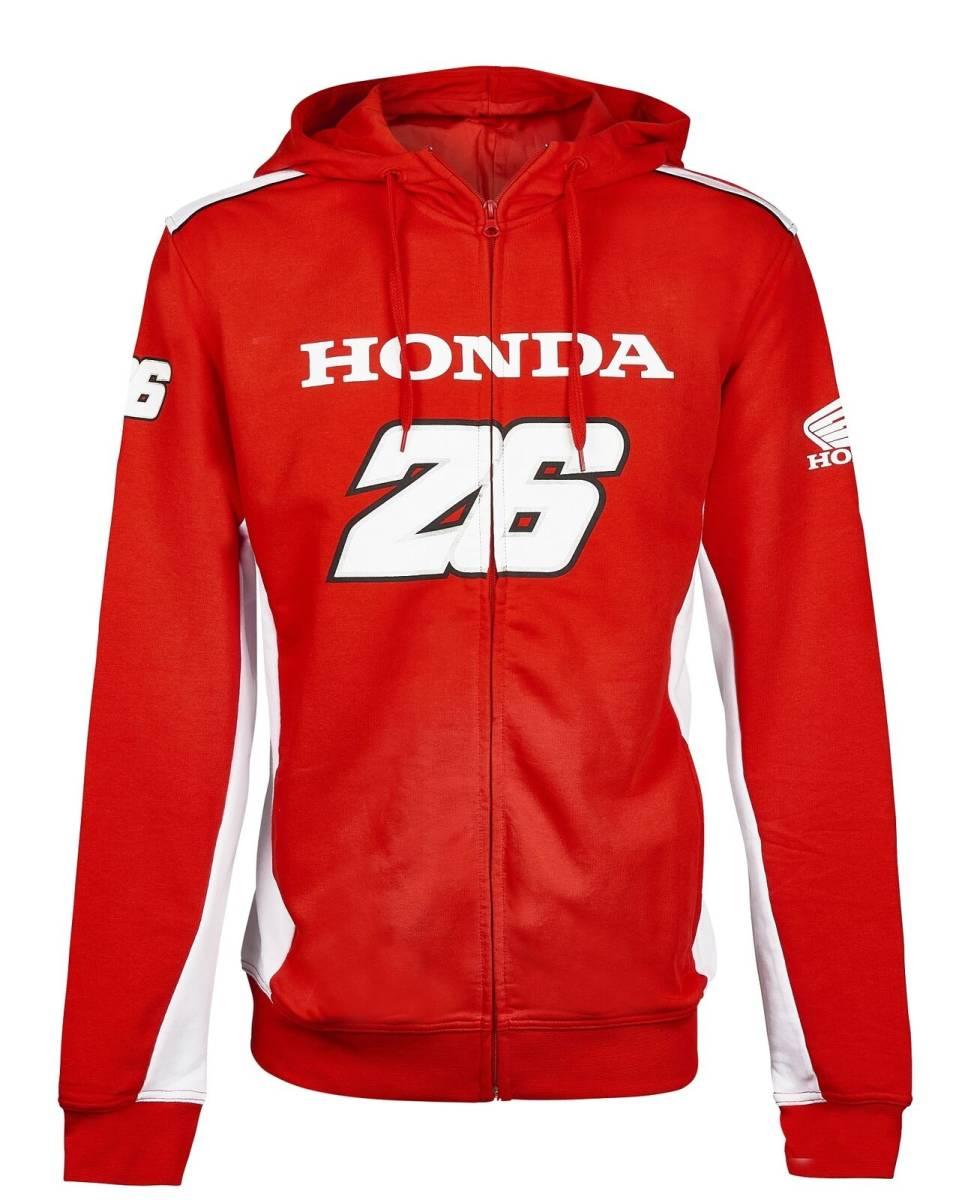 ★送料無料★ Honda Team Pedrosa 26 MotoGP Bike Hoody ホンダ ダニ・ペドロサ ジップアップ パーカー レッド