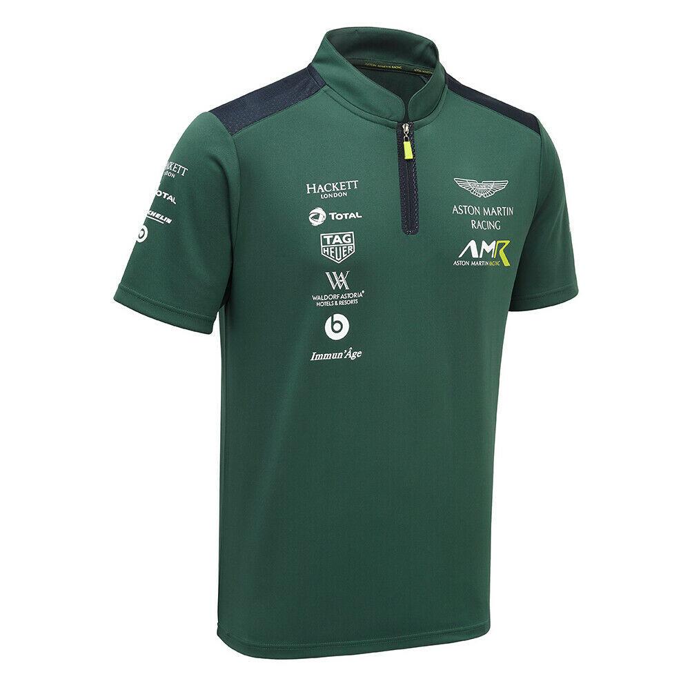 ★送料無料★ Aston Martin Racing Team Polo Shirt アストン マーチン オフィシャル ポロシャツ グリーン