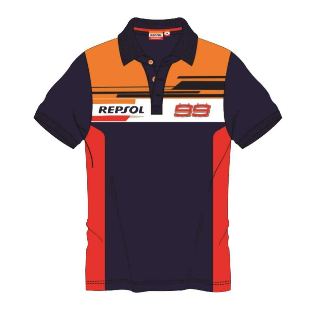 ★送料無料★ 2019 Jorge Lorenzo #99 Repsol Honda Racing Polo Shirt ホルヘ・ロレンソ レプソル ポロシャツ