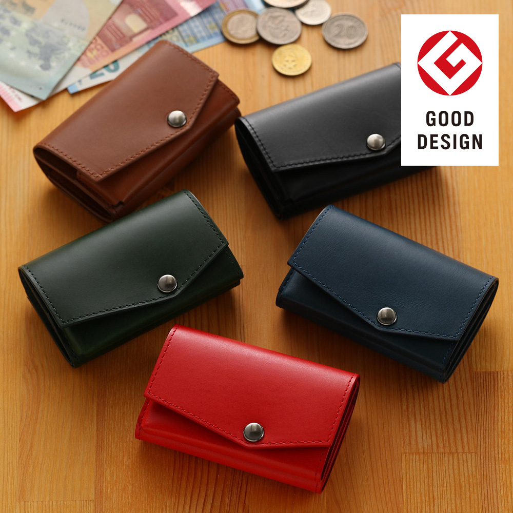 4f7ec1642323 小さい財布abrAsus(アブラサス)最上級ブッテーロレザーエディション小銭入れ付き三つ折り