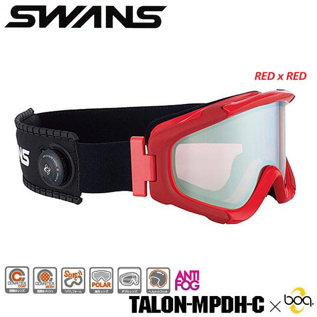 【送料無料】【TALON-MPDH-C x boa】SWANS スノーゴーグルBoa・クロージャーシステム搭載超撥水レンズ 偏光レンズ ダブルレンズヘルメット対応 パフフォーム 05P30Nov13