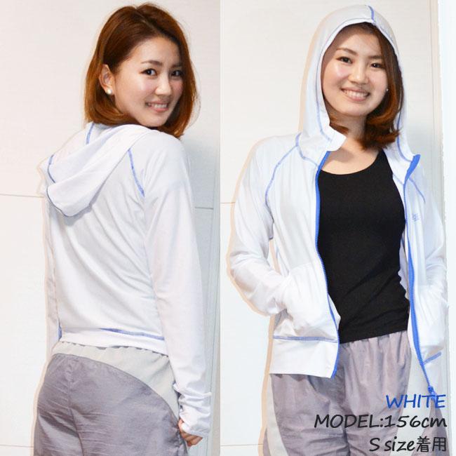 供Scrap Iron高峰保护女性使用的长袖子食物在的UV cut UPF50+05P11Aug14