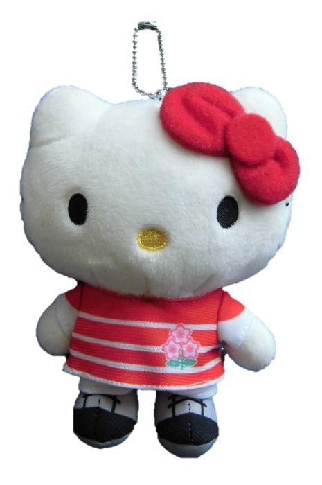 ラグビー 市販 日本代表 × 物品 キティ ぬいぐるみ マスコットキーチェーン BC