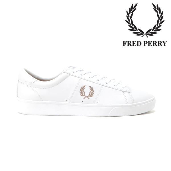 【送料無料・送料込(一部地域を除く)】 FRED PERRY フレッドペリー Spencer Leather スペンサー レザーSB7221WHITE / 1964 SILVER(200) メンズ・レディース