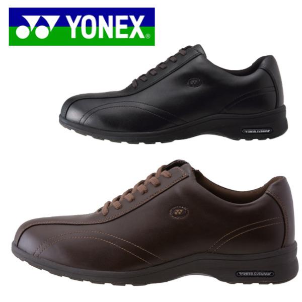 ヨネックス パワークッション カジュアルウォーク YONEX MC30 ブラック ダークブラウン 軽くて丈夫なソール・ストレッチ素材採用 メンズ・紳士・ウォーキング