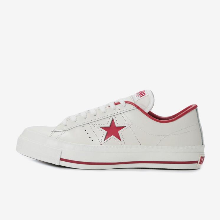 and ☆ shipping converse onestar J white   red CONVERSE ONE STAR J men women cc98d4ecc