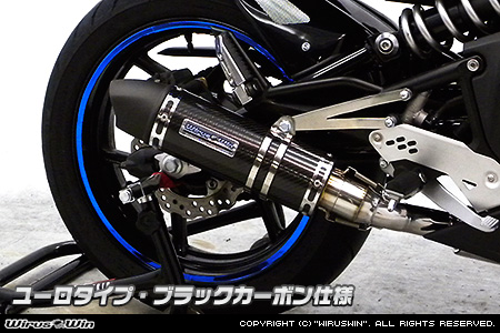 WirusWin ニンジャ Ninja400R・ER-4n(ER400B) ダイナミックマフラー ブラックカーボン仕様【スリップオン】 /ウイルズウィン
