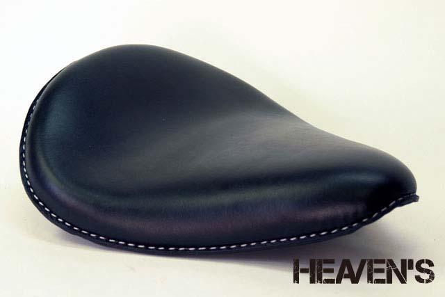 HEAVEN'S 本革 ソロシート(スタンダード・バックサイドアップ)スムース ブラック/ヘブンズ 汎用 マーキュリーソロシート バイク用サドルシート