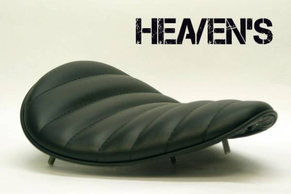 HEAVEN'S ソロシート(スーパーフラット)タックロール ブラック/ヘブンズ 汎用 マーキュリーソロシート バイク用サドルシート