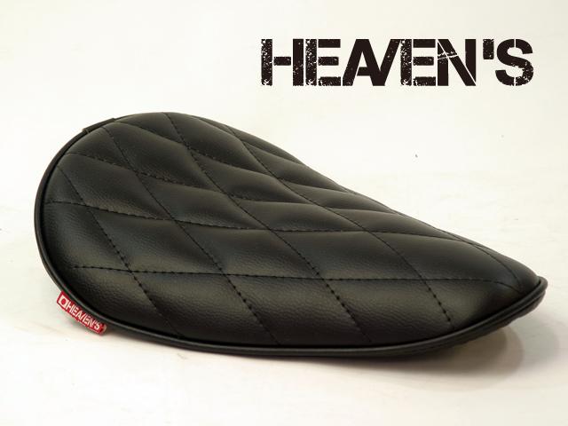 HEAVEN'S ソロシート(ロングノーズ・バックサイドアップ)ダイヤ ブラック/ヘブンズ 汎用 マーキュリーソロシート バイク用サドルシート