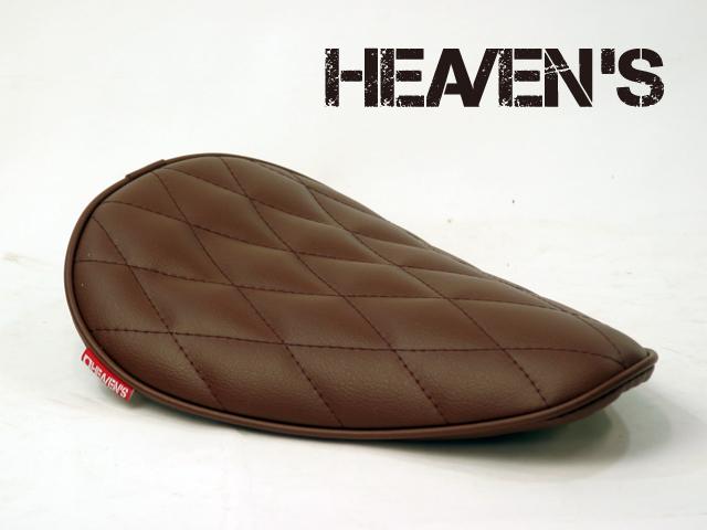 HEAVEN'S ソロシート(ロングノーズ・バックサイドアップ)ダイヤ ブラウン/ヘブンズ 汎用 マーキュリーソロシート バイク用サドルシート