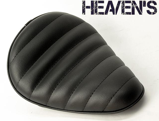 HEAVEN'S 低反発 ソロシート(スタンダード・バックサイドアップ)タックロール ブラック/ヘブンズ 汎用 マーキュリーソロシート バイク用サドルシート