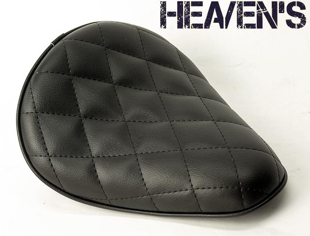 HEAVEN'S 低反発 ソロシート(スタンダード・バックサイドアップ)ダイヤ ブラック/ヘブンズ 汎用 マーキュリーソロシート バイク用サドルシート
