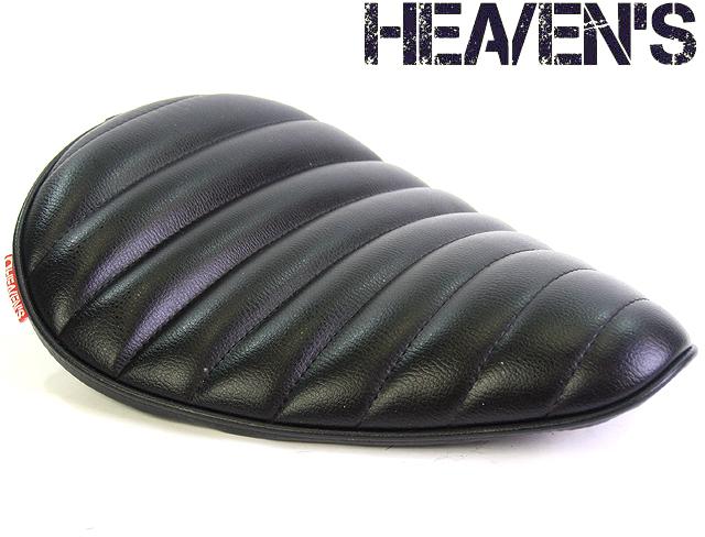HEAVEN'S 低反発 ソロシート(デラックスワイド)タックロール ブラック/ヘブンズ 汎用 マーキュリーソロシート バイク用サドルシート