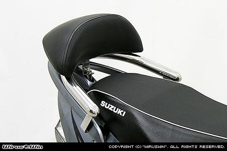 WirusWin アドレスV125 リアスポイラー付き車用 バックレスト付き 32φ タンデムバー/ウイルズウィン