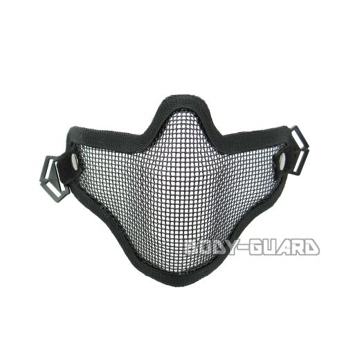 通気性のよい金属製のメッシュマスク メッシュマスクなので息がしやすく ハーフタイプなので視野も確保 メッシュマスク ブラック ミリタリー用品 ミリタリーグッズ マスク 安売り メッシュ サバゲー サバイバルゲーム ファッション ハーフ サバイバルグッズ ハーフマスク 引き出物 フェイスマスク アウトドア コスプレ ハロウィーン ハロウイン 衣装 ミリタリー ハロウィン グッズ 仮装