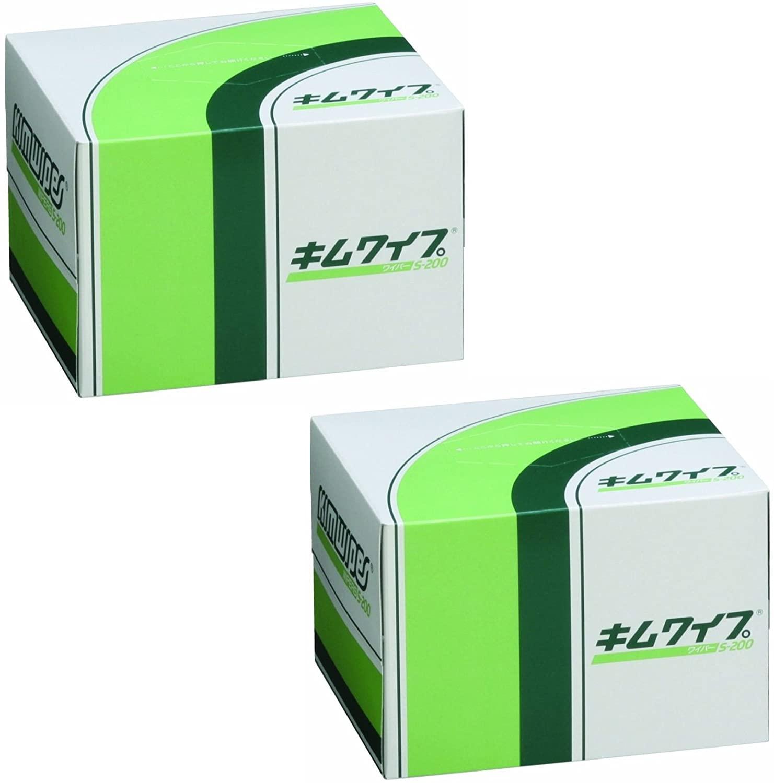 日本製紙クレシア キムワイプ S-200 爆買い送料無料 箱入り 2個入 売り込み 120×215mm 200枚