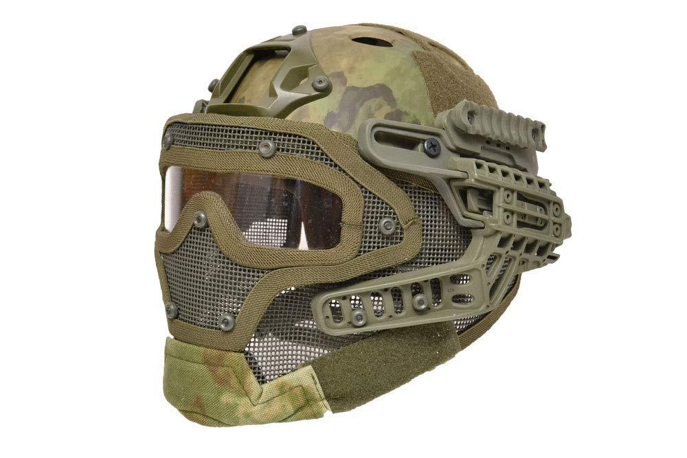 【送料無料】G4システム FASTヘルメット + フルフェイスマスク 1体型 サバゲー用 分離可能 (ATFG)