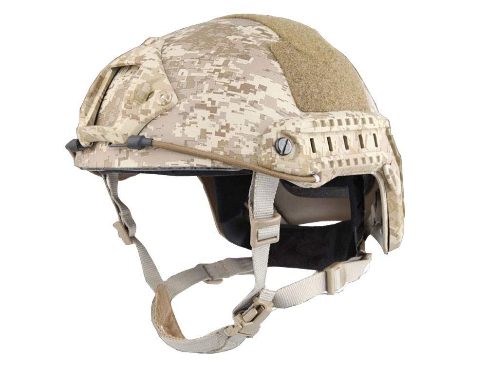 【送料無料】EMERSON製 Fast Ballistic ヘルメット MHヘルメット ビクセルブラウン迷彩 ダイヤルライナー付き EM5658E