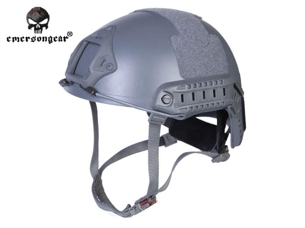 【送料無料】EMERSON製 Fast Ballistic ヘルメット MHヘルメット Wolf Grey WG ウルフグレー ダイヤルライナー付き EM5658K