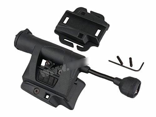 売れ筋 ライト ブラック サバゲー サバイバルゲーム 装備 ミリタリー イルミネーションシステム ヘルメット D410P06Aug16 LEDライト 送料無料 黒 MPLSタイプ 当店限定販売 LED