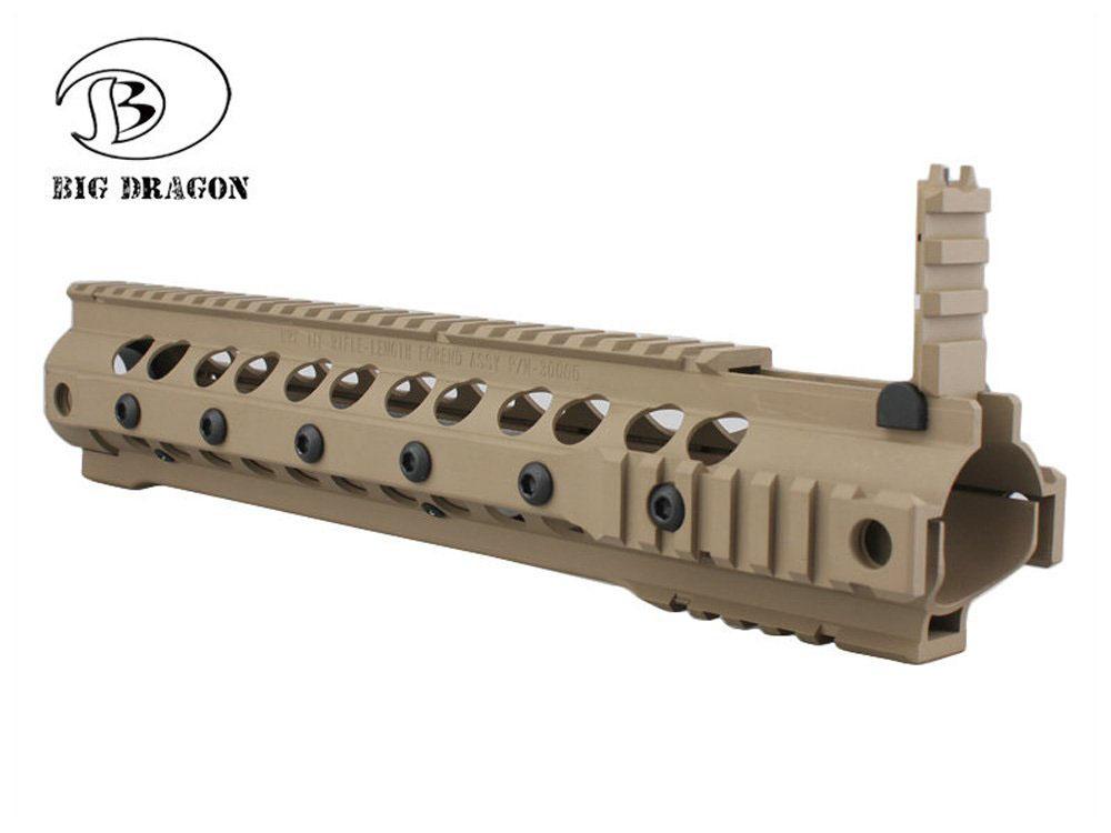 【送料無料】BIG DRAGON製 M4適合 URX-3タイプ 12.5インチ レイルハンドガード RAS ダークアース DE 茶系色