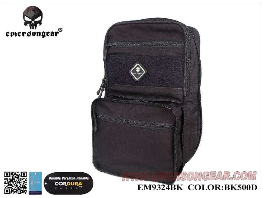 【送料無料】EMERSON製 D3 Multi-purposed バッグ バックパック D3CRチェストリグに接続可能 (ブラック 黒色 500Dナイロン)
