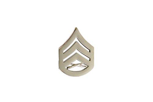 バッジ シルバー 金属バッジ インシグニア 徽章 サバゲー ミリタリー [宅送] レプリカ アメリカ 銀色 アメリカ軍 海兵隊 送料無料 金属製 66 二等軍曹 階級章 Seasonal Wrap入荷