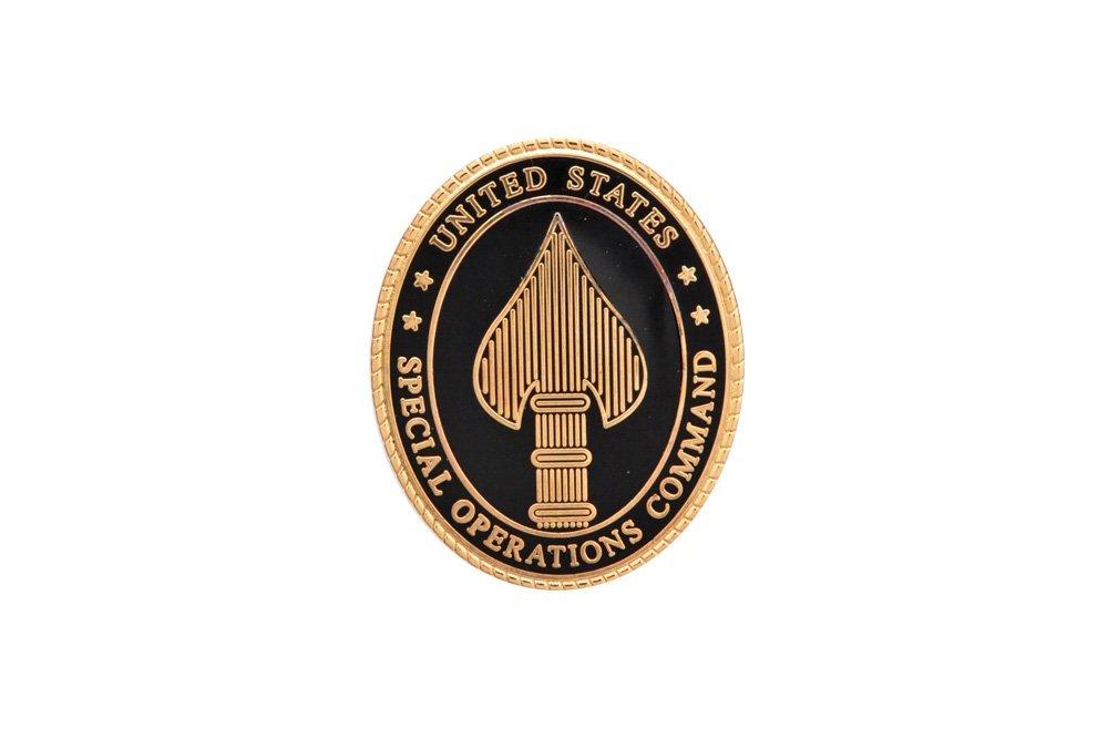 バッジ ブラック 金属バッジ 徽章 部隊章 メダル サバゲー ミリタリー レプリカ アメリカ アメリカ特殊作戦軍 アメリカ軍 米軍 Special USSOCOM 送料無料 正規激安 新品未使用 Command 93 Operations