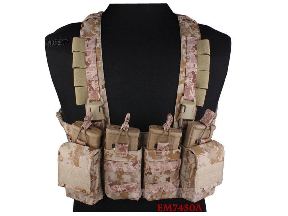 【送料無料】EMERSON製 M4 SCAR-Hマガジン対応 イージーチェストリグ AOR1迷彩 D410P06Aug16