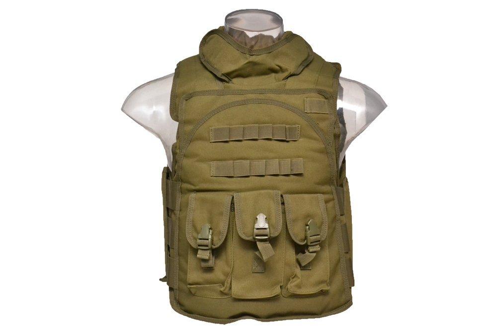 【送料無料】SWAT セキュリティ タクティカルベスト アーマーベスト オリーブドラブ OD D410P06Aug16