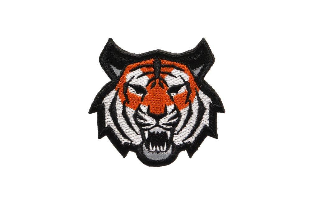 ワッペン タイガー イエロー パッチ サバゲー ベルクロ 本日限定 ミリタリー 布製 虎型 ファッション通販 送料無料 ベルクロ付き