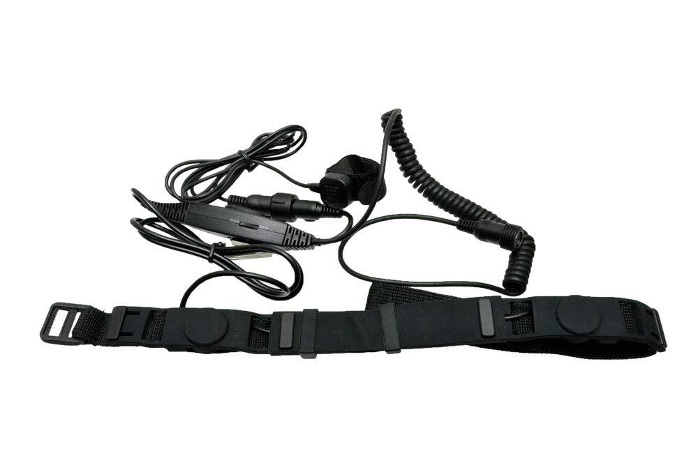 【送料無料】EMERSON製 MK2 SWAT タクティカルスロートマイク ヘッドセット 黒 喉の振動で会話出来るマイク EM5299