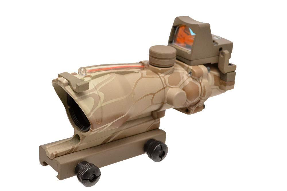 【送料無料】EMERSON製 自動集光式 TA31 ACOGタイプ 4倍スコープ RMRドットサイト付属 (Highlander ハイランダー迷彩 BD5161A)
