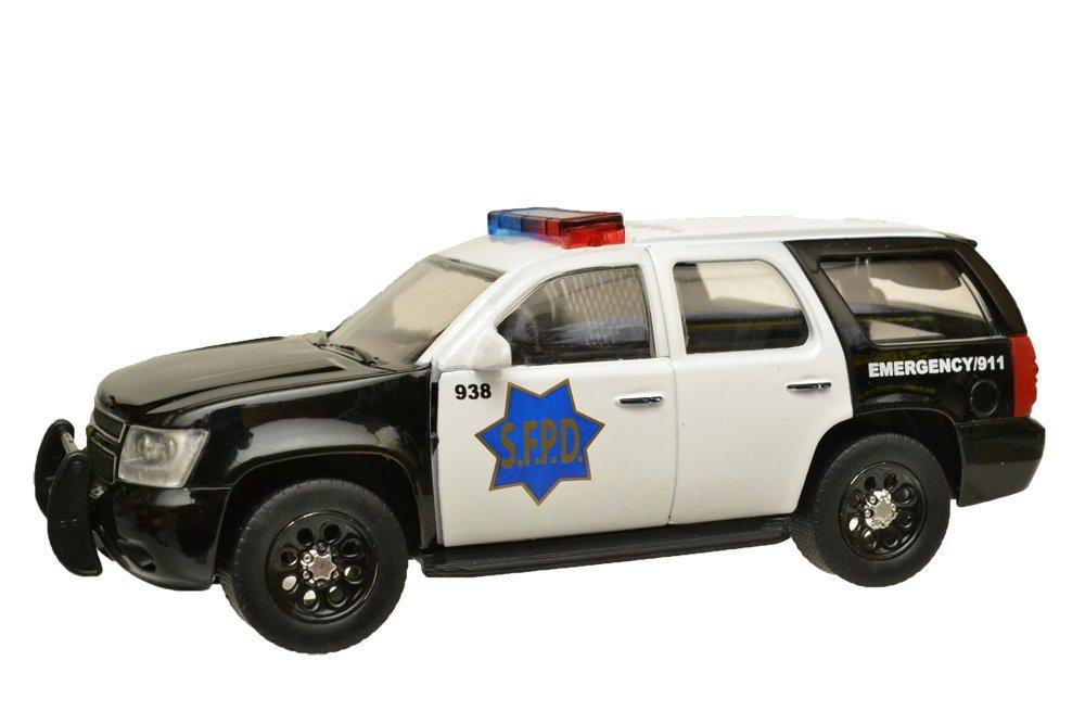 【送料無料】1/32 LEDカスタム済み Jada Toys製 2010 シェビー タホ SFPD サンフランシスコ警察 パトカー アメパト [並行輸入品]