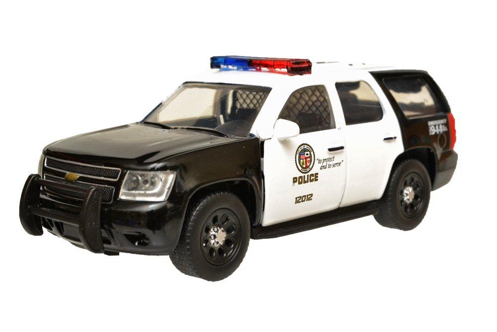 【送料無料】1/32 LEDカスタム済み Jada Toys製 2010 シェビー タホ ロサンゼルス警察 パトカー アメパト 【並行輸入品】