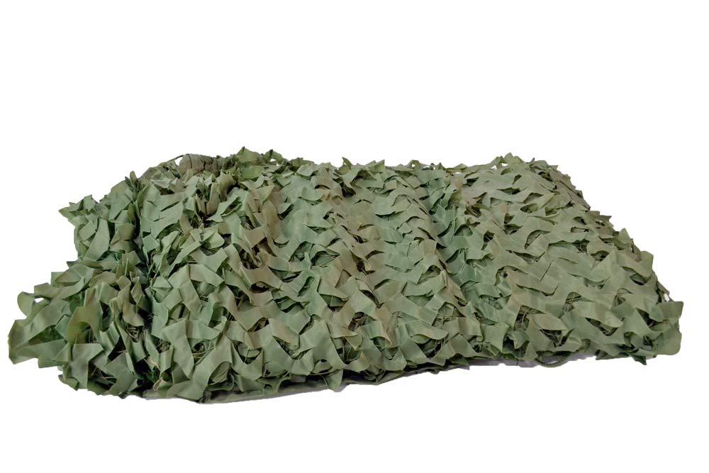 【送料無料】新型 ギリーネット カモフラージュネット 偽装網 迷彩カバー 狩猟 バードウォッチングに (オリーブドラブ OD, 縦400cm×横500cm)