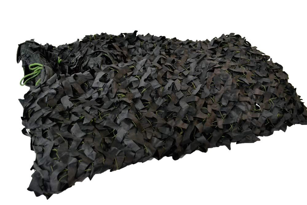 【送料無料】新型 ギリーネット カモフラージュネット 偽装網 迷彩カバー 狩猟 バードウォッチングに (ブラック 黒色, 縦600cm×横600cm)