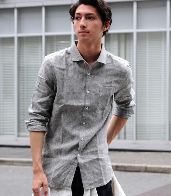【男性】40代男性に似合う、夏涼しいリネンシャツ(メンズ)