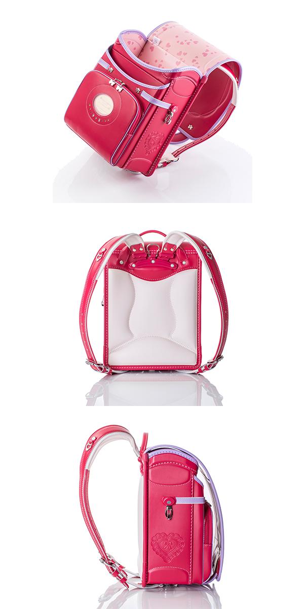 便利雑貨 レディース ふわりぃ リボンモデル 2016年度モデル 女児用 03-04338 ビビットピンク×スミレ コンビ