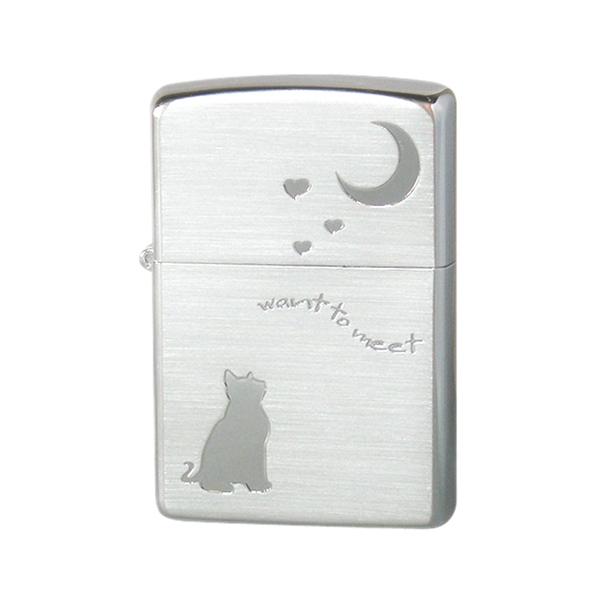 生活関連グッズ メンズ ジッポ ZIPPO CAT in LOVE メンズ ライター 喫煙具 2CAT-SSA シルバー