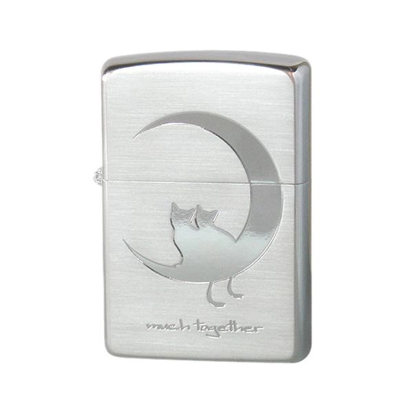 生活関連グッズ メンズ ジッポ ZIPPO CAT in LOVE メンズ ライター 喫煙具 2CAT-SSB シルバー